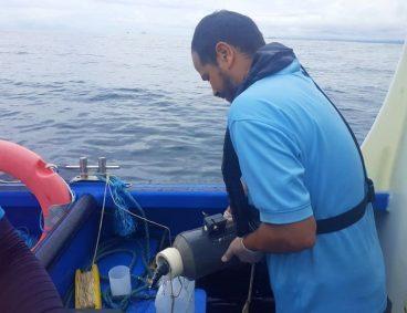 Muestreo de aguas marinas para planta desalinizadora